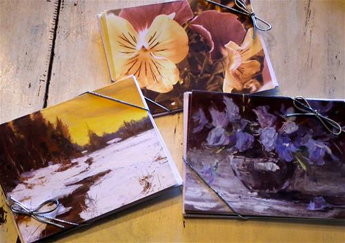 """Card Packs"" original fine art by kay  keyes farrar"