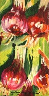 """Red Onion Bulbs"" original fine art by JoAnne Perez Robinson"