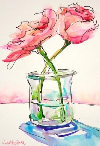 """star-crossed"" original fine art by Nora MacPhail"