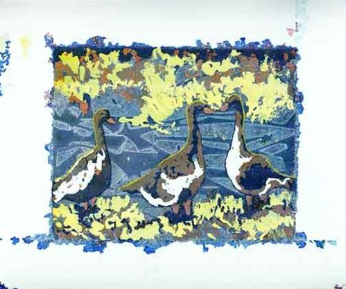 """Good for the Goose"" original fine art by Kara Butler English"