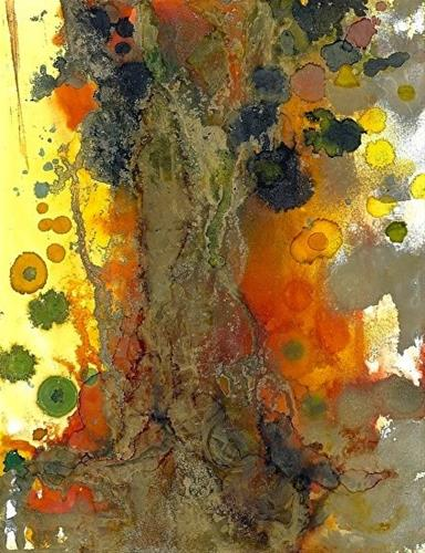 """Contemporary Alcohol Ink Painting Solitary Old Tree by Contemporary New Orleans Artist Lou Jordan"" original fine art by Lou Jordan"