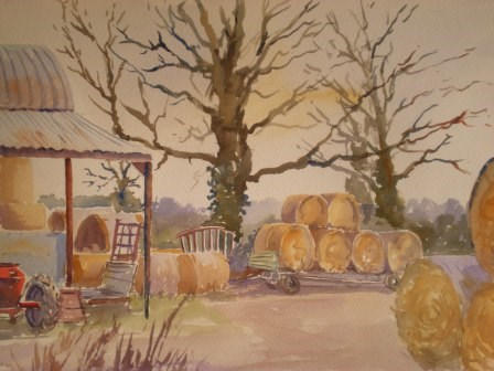 """Corner of the Farmyard"" original fine art by Graham Findlay"