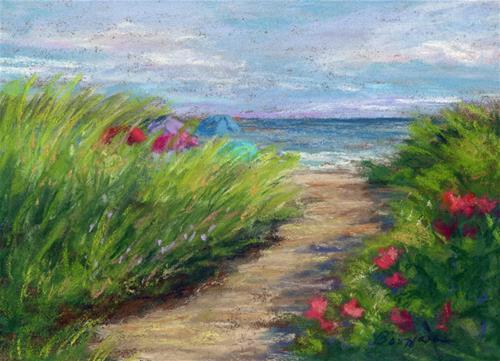 """Dunes & Umbrellas"" original fine art by Vikki Bouffard"