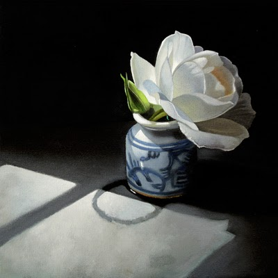 """Rose 6x6"" original fine art by M Collier"