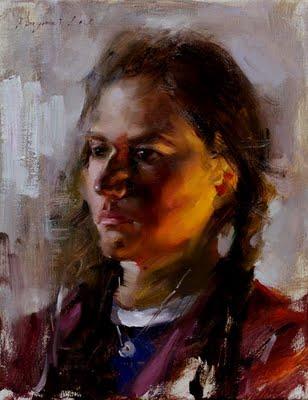 """""""Kelsey"""" original fine art by Fongwei Liu"""