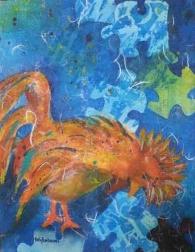 """The Sky is Falling"" original fine art by Polly  Barbacovi"