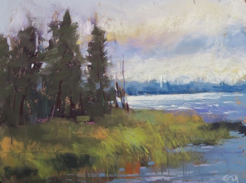 """Finland Workshop Day 3 ... The Sun Arrives"" original fine art by Karen Margulis"