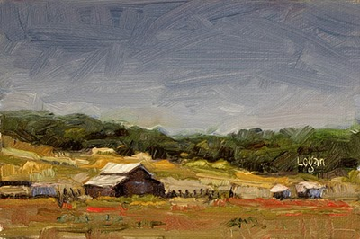 """Barn off Corbett Canyon Road"" original fine art by Raymond Logan"