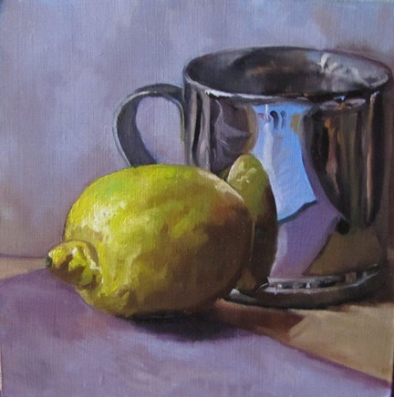 """33 - Lemon with Cup"" original fine art by Ed Watson"