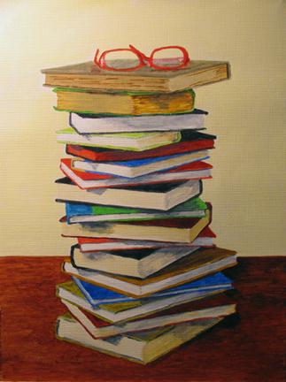 """Light Reading"" original fine art by Nan Johnson"