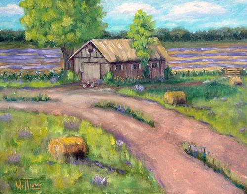 """""""Lavender Farm"""" original fine art by Sunny Williams"""