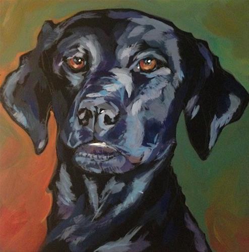 """Lulu"" original fine art by Kat Corrigan"