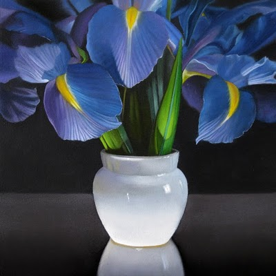 """Iris 8'x 8"" original fine art by M Collier"