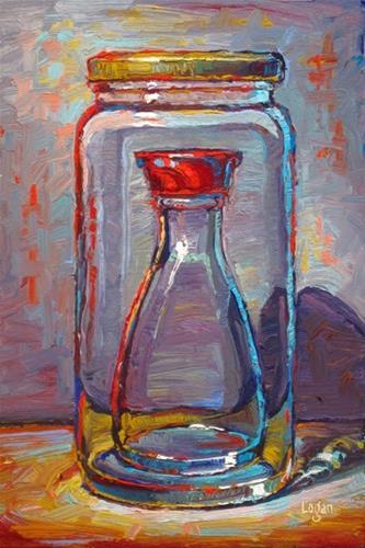 """Soy Sauce in a Jar"" original fine art by Raymond Logan"