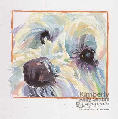 """Harry, Painted Sketch"" original fine art by Kimberly Santini"