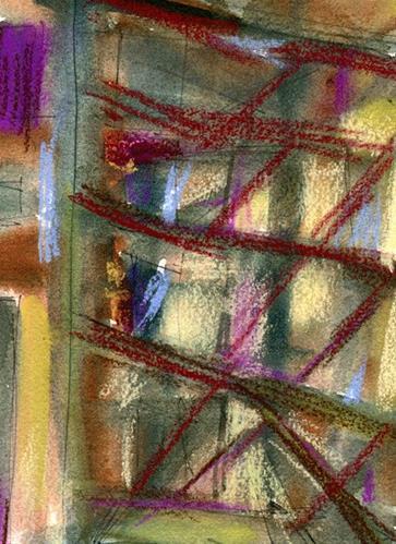 """Alley Shadows 2"" original fine art by Donna Crosby"