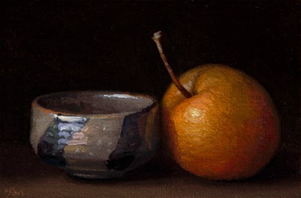"""Chinese Bowl and Asian Pear  (+ Laib, Dean, Giacometti...)"" original fine art by Abbey Ryan"