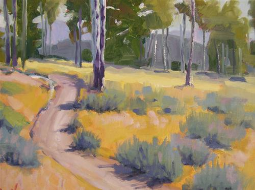 """Afternoon Hike"" original fine art by Deborah Newman"