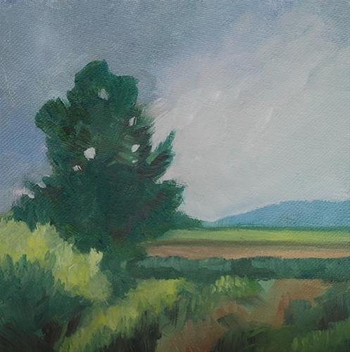 """Vojvodina Landscape"" original fine art by J M Needham"