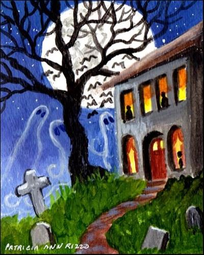 """A Ghostly Night"" original fine art by Patricia Ann Rizzo"