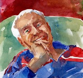 """""""Nick Nack - Watercolor"""" original fine art by Belinda Del Pesco"""