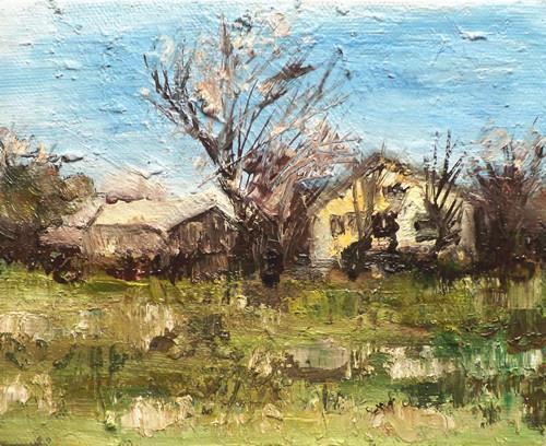 """Landscape,f10"" original fine art by Run-      Zhang Zane"
