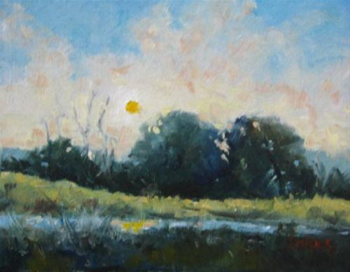 """Setting Sun"" original fine art by Connie Snipes"