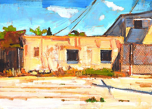 """Alley, North Park"" original fine art by Kevin Inman"