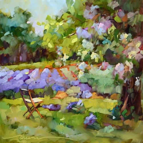 """Gathering Lavender"" original fine art by Dreama Tolle Perry"