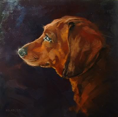 """Dachshund Profile"" original fine art by Michael Naples"
