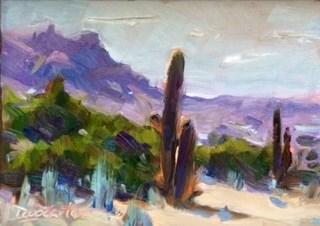 """Valley Cactus"" original fine art by Doug Carter"