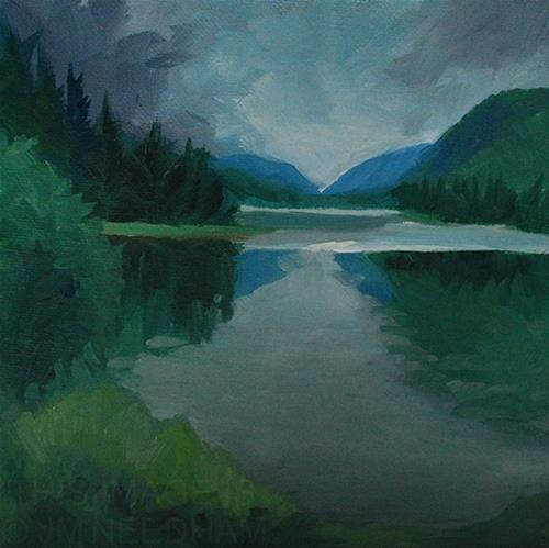 """Reflections in the Lake"" original fine art by J M Needham"