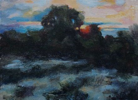 """Evening Color"" original fine art by Susan Hammer"
