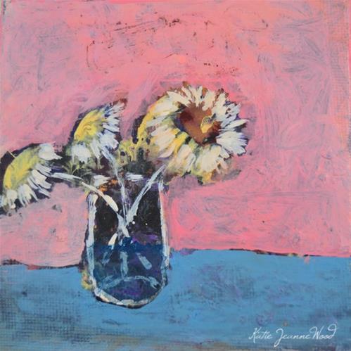 """Floral No 93"" original fine art by Katie Jeanne Wood"
