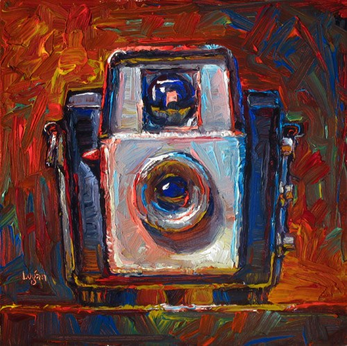 """Brownie Starlet Camera (The Square One)"" original fine art by Raymond Logan"