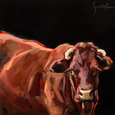 """Red Meat"" original fine art by Karin Jurick"