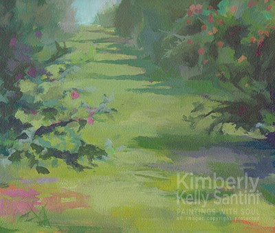 """Orchard II"" original fine art by Kimberly Santini"