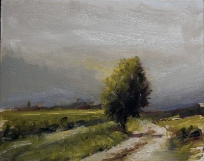 """Farm Track"" original fine art by Neil Carroll"