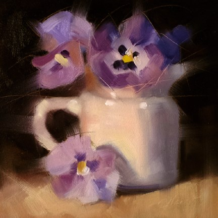"""Purple Pansies"" original fine art by Cindy Haase"