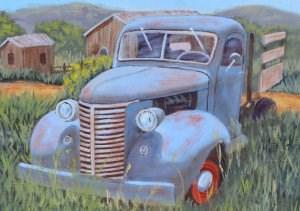 """Old Blue"" original fine art by Robert Frankis"