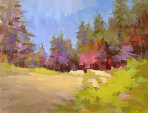 """Mountain Passage"" original fine art by Rita Curtis"