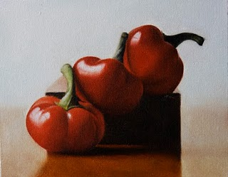 """Red Cherry Peppers"" original fine art by Jonathan Aller"