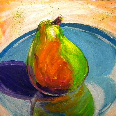 """Pear 1"" original fine art by Pam Van Londen"
