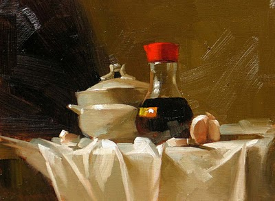 """Before Cooking 2"" original fine art by Qiang Huang"