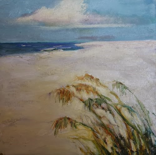 """Florida Sea Oats, Beach and Ocean Paintings by Arizona Artist Amy Whitehouse"" original fine art by Amy Whitehouse"
