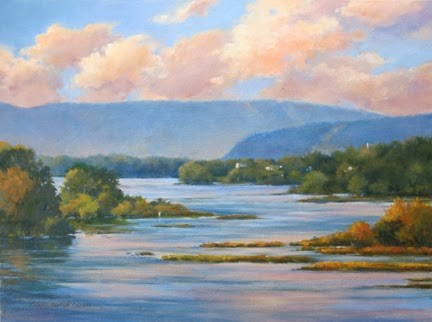 """'Susquehanna Passage' An Original Oil Painting by Claire Beadon Carnell"" original fine art by Claire Beadon Carnell"
