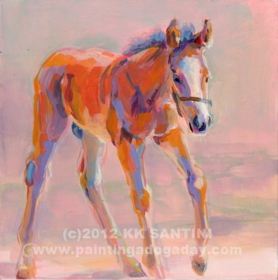 """Hugo"" original fine art by Kimberly Santini"