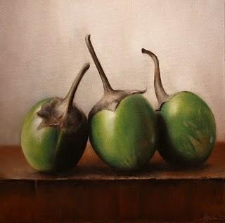 """Thai Eggplants"" original fine art by Jonathan Aller"