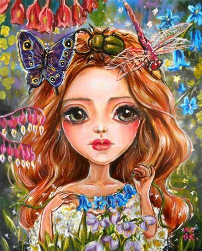 """""""Amaryllis"""" original fine art by Nicole Chen"""