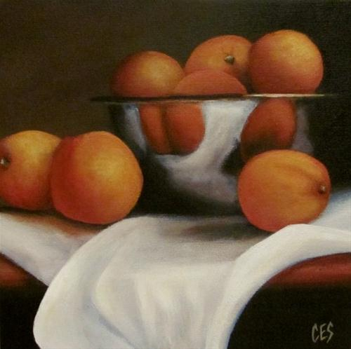"""Oranges and Linen"" original fine art by ~ces~ Christine E. S. Code"